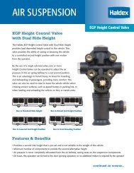 EGP Height Control Valve with Dual Ride Height - Haldex