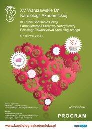 kardiologia_akademicka_program20130.pdf - Polskie Towarzystwo ...