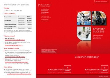 Hannovermesse Besucherinfo (Download) - IMV Deutschland