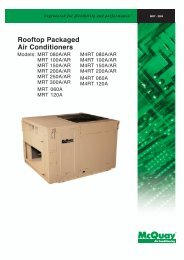 Rooftop Packaged Air Conditioners - McQuay