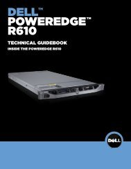 Dell™ PowerEdge™ R610 Technical Guidebook