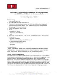 Protokoll der 14. Vorstandssitzung des Berliner Herzinfarktregister ...