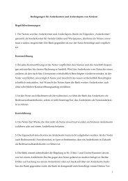 Bedingungen für Anderkonten und Anderdepots von ... - Notarkammer
