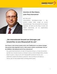 Interview mit Max Rubens, Leiter Press International