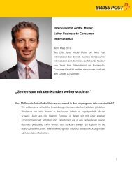 Interview mit André Müller, Leiter Business to Consumer International