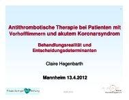 AFibACS Register - Berliner Herzinfarktregister