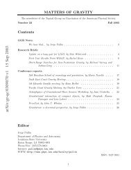 arXiv:gr-qc/0309070 v1 15 Sep 2003 - Department of Physics ...