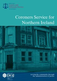 Coroners Service for Northern Ireland - September 2011