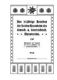 Verzeichnis der in der Section gehaltenen ... - Deutscher Alpenverein