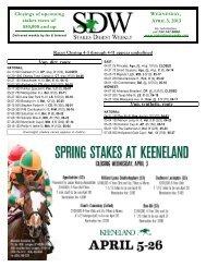 Stakes Digest Weekly - 04/03/13