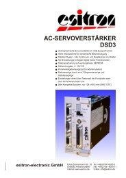 AC - Servoverstärker DSD3 - esitron