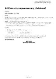 Schiffsausrüstungsverordnung (SchAusrV) - Gesetze im Internet