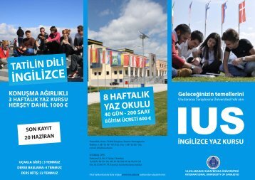 ingilizce yaz kursu - International University of Sarajevo