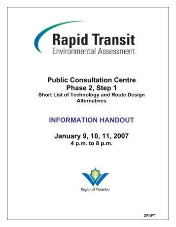 Phase 2 PCC 1 Public Information Package - Rapid Transit - Region ...