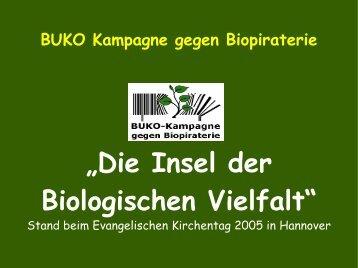 ist eine Präsentation des Standes als PDF-Datei - Biopiraterie
