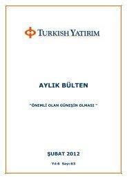 aylık bülten - Turkborsa.net