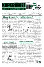 Biopiraten auf Kurs Heiligendamm? - Biopiraterie