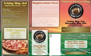 Friday May 3rd FREE Coach's Social - EasternPAFootball