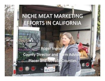 niche meat marketing efforts in california - University of California ...