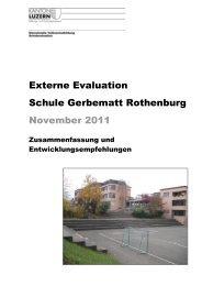Externe Evaluation Schule Gerbematt Rothenburg November 2011