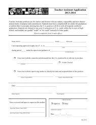 Teacher Assistant Application 2013-2014