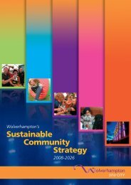 Wolverhampton Sustainable Community Strategy