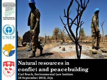 Natural resources in conflict and peacebuilding - IUCN Portals
