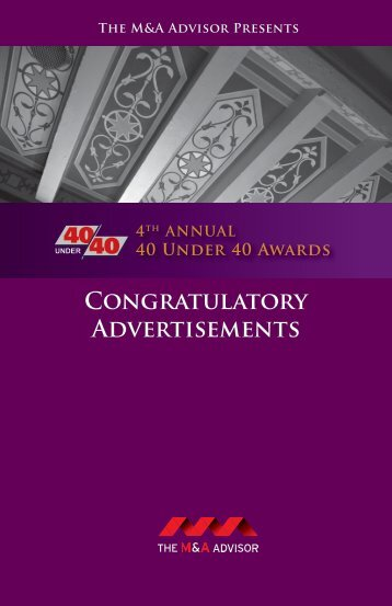 Congratulatory Advertisements