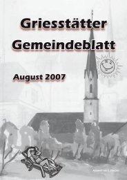Freizeit - Garten - Heimwerker - Lebensmittel ... SEHEN - Griesstätt
