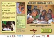 PROJET SENEGAL 2012 - Resacoop