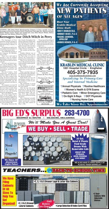 Pages 5-8. - Kingfisher Times and Free Press