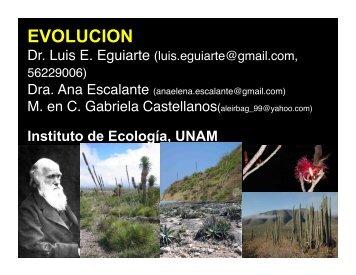 Presentación 1. Evolución - Instituto de Ecología - UNAM