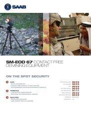 SM-EOD 67 CONTACT FREE DEMINING EQUIPMENT - Saab