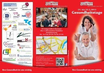 Weitere Informationen finden Sie in unserem ... - CITTI-PARK Kiel