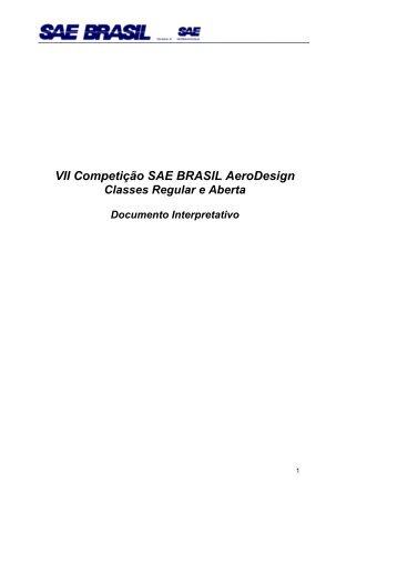Documento Interpretativo - UFSC Aerodesign