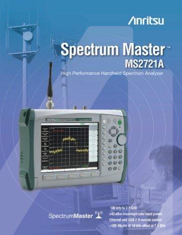 Spectrum Master MS2721A Brochure - Aspen Electronics