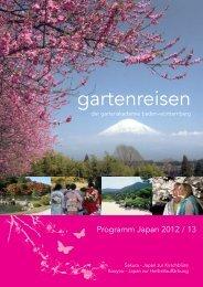 Japan Gartenreisen 2013