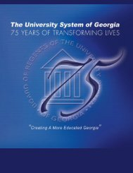 75 years of transforming lives - University System of Georgia