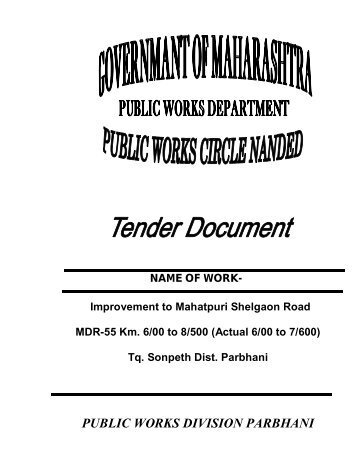 PUBLIC WORKS DIVISION PARBHANI - e-Tendering