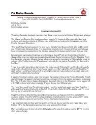 Cowboy Christmas - Canadian Professional Rodeo Association