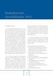 Risikobericht, Geschäftsjahr 2012 - Bankhaus Neelmeyer AG