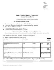 WKR002 - The South Carolina Department of Health and Human ...