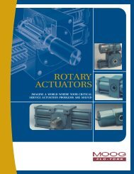 Moog serioes Flo-Tork rotary actuators