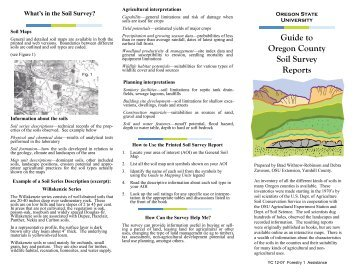 Guide to Oregon County Soil Survey Reports - Oregon Small Farms