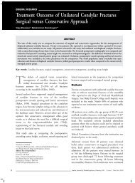 Treatment Outcome of Unilateral Condylar Fractures Surgical ... - IJMD