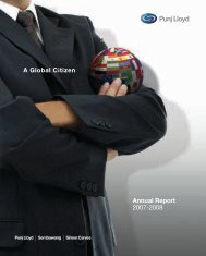 Annual Report 2007-2008 A Global Citizen - Punj Lloyd Group