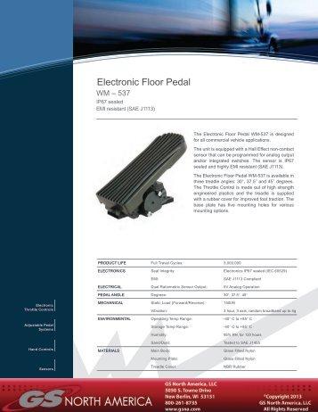 Electronic Floor Pedal - Williams Controls, Inc.