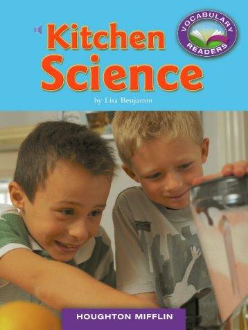 Lesson 15:Kitchen Science