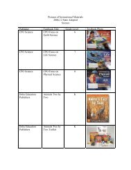 Pictures of Instructional Materials 2006-12 State Adopted Science ...