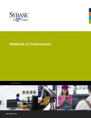MobiLink 12 Performance - Sybase